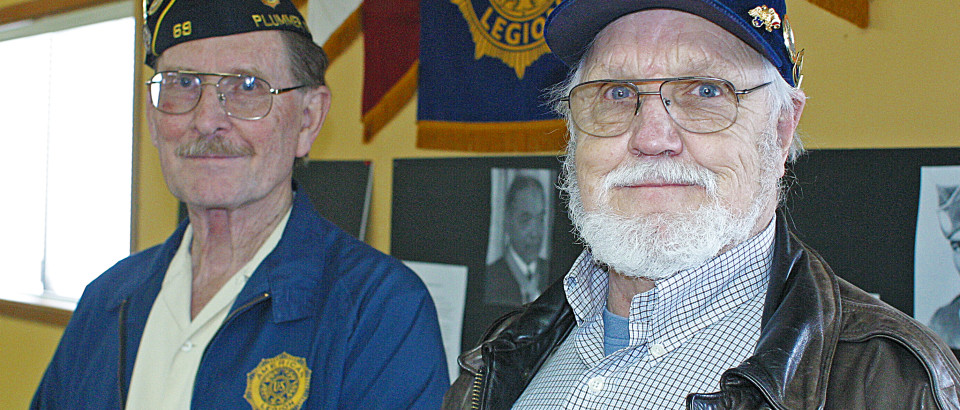 Dean Hutchinson and Tom Weatherwax of American Legion Post 69 invite residents to watch young people from across northern Idaho show their skills at public speaking at the group's annual Oration Contest Feb. 3.