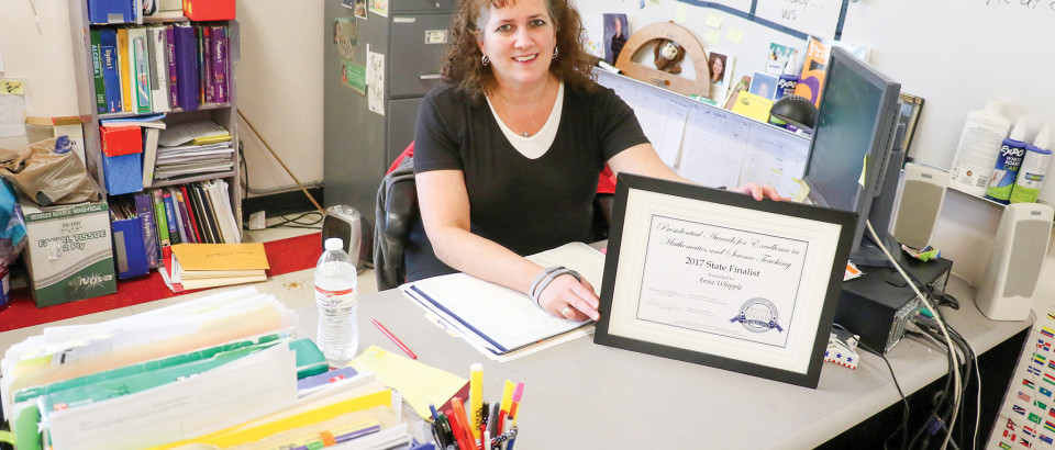 Anna Whipple, a math teacher at Kootenai, was honored last week by the state of Idaho with a prestigious award.