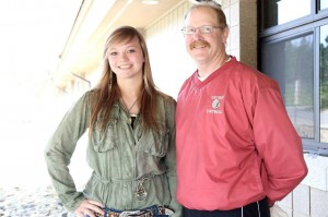 Kootenai senior Savanna Dutton, who was selected for the NISTAR honor this year, chose teacher and coach Doug Napierala to share the honor with her. Students chosen for NITSTAR select a teacher who has impacted them during their high school career.
