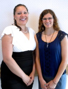 Former Kootenai High School teacher Kathryn McBride was selected by senior Shannon Riley as part of the NISTAR program. The pair were honored at a banquet May 5.