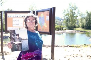 The new pond at the St. Maries Sportsman Access Site has been named after Dave Spicer, who died last year. Mr. Spicer was an officer with the Idaho Fish & Game. Yvonne Spicer holds a picture of her late husband. She said he enjoyed his work and the area.