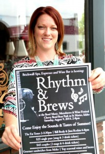 St. Maries Gazette Record Posted by Devon Barta Liked · Yesterday · Edited   Laci St. John displays the poster for the second Rhythm & Brews at the Bend festival, which will feature live music, brews and wine. She has organized the festival as an extension of her business and hopes it will become a much-anticipated event every year.