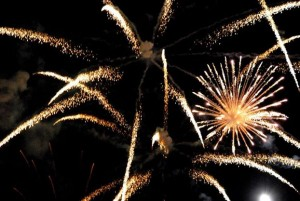 A packed crowd is treated to brilliant fireworks shows, year after year.