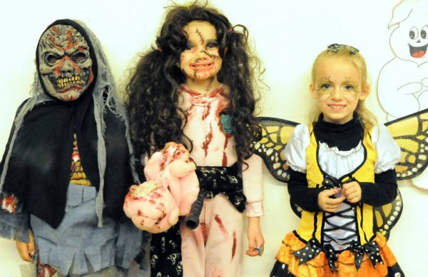 Winners of the 2013 5-8 year old category of the costume contest include Antonio Vincent, Aybrey Hansen and Lorelai Mongeau.