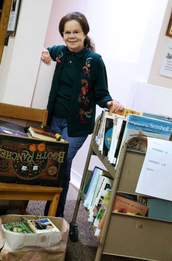 Linda Foxworth is one of a handful of volunteers that help organize the book sale each year.