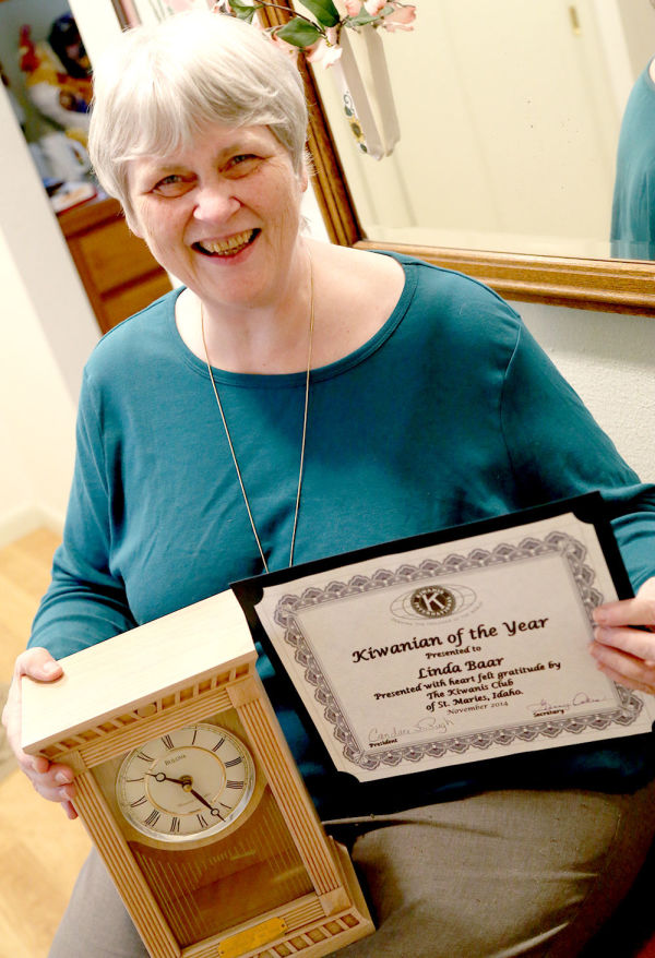 Linda Baar was named Kiwanian of the Year. Ms. Baar has been a member of the club for the past four years.