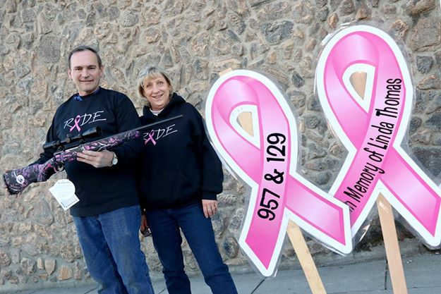 Dale Hill and Claudia Spooner are organizing the St. Joe Snow Riders annual Breast Cancer Run. This year, the club is raffling off a pink rifle. Tickets are available now at area businesses. It is just one way to support the cause even if you don't own a snowmobile.
