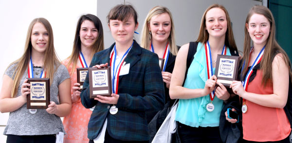 Six St. Maries students qualified for nationals at the state Business Professionals of America competition. There are Kaylene Peet, Arie Sands, Liz Bloomsburg, Paytyn Wemhoff, Kari Ghramm and Alexis Cordell.