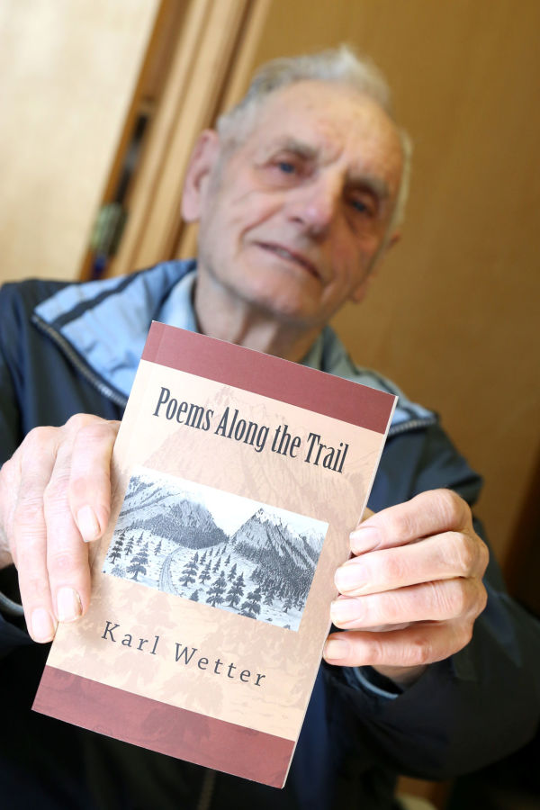 Local writer and historian Karl Wetter published his 10th book. This edition includes more than 70 poems he has authored during his lifetime.