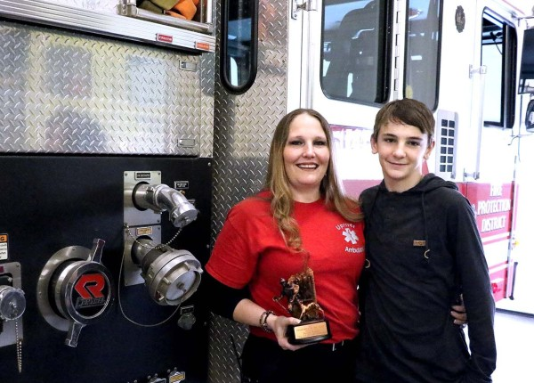 Brinda Baird was named Firefighter of the Year for 2016 by the North Idaho Fire Chiefs Association. She was nominated for the award by her son, Chance.