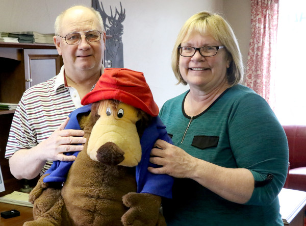 Floyd and Nancy Turner hold one of their late son Patrick's favorite stuffed animals that he purchased with his birthday money. The family was granted a wish when Patrick was ill to go to Disneyland for a week and now they want to raise money in order that another child might have a wish granted.