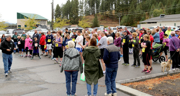 Several runners and walkers participated in the annual Paul Bunyan Days/ Karen Ebert Memorial Fun Run and Walk Sept. 5. In this photo, runners lineup moments before the start of the race.