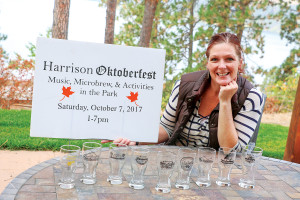 The Harrison Oktoberfest celebration marks its tenth year Saturday, Oct. 7. Teri Riberich says the event continues to be a success.